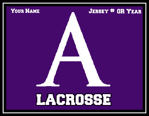 Custom Amherst Men's Solid Lacrosse Name & # OR Year