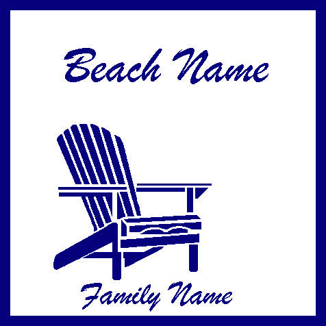Adirondack Beach Blanket - Your Beach & Family Name