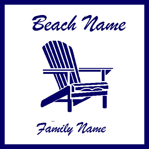 Custom Beach & Family Adirondack 50 x 60