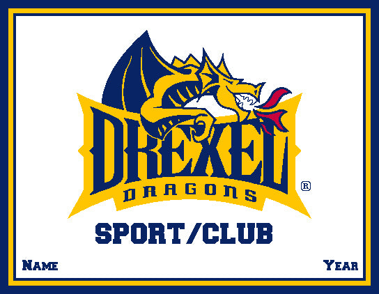 Custom Drexel Dragons ANY Sport /Club Natural Base 60 x 50