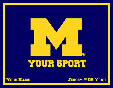 Custom Michigan Athletic  60 x 50