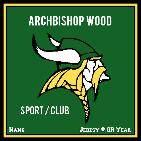 AB Wood Athletic Hunter Base  Any Sport /Club Customized with your Name , Jersey #, OR Year