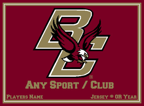 Custom BC Any Sport  / Club  Burgundy  60 x 50