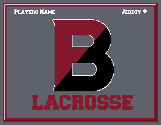 Custom Bates Lacrosse Name & Number 60 x 50