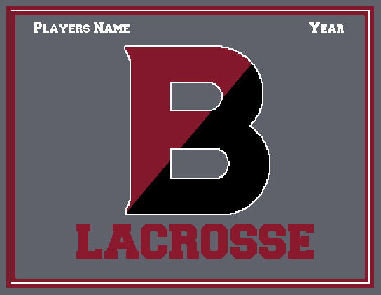 Custom Bates Lacrosse  Name and Year   60 x 50