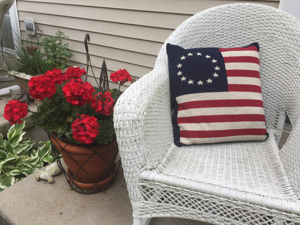 Betsy Ross Flag Pillow 20 x 20