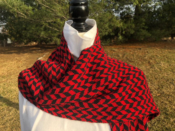 Haverford Colors Chevron Scarf 9 x 60