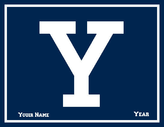 Yale Y Block Customized with your Name and Year 60 x 50