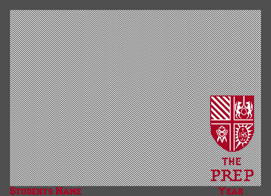 St. Joseph's Prep Seal Herringbone  Customized with Name and Year 50 x 60