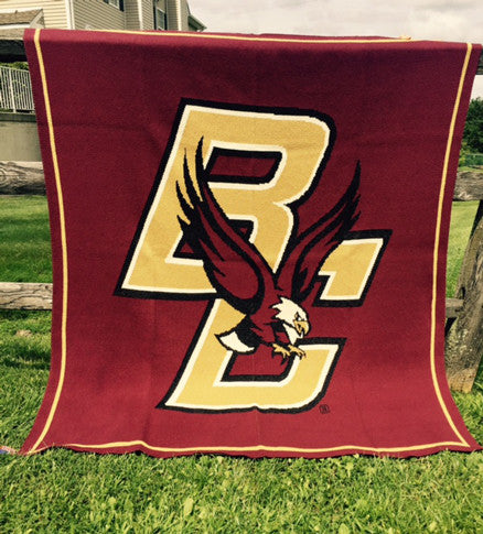 Boston College Eagle Blanket Burgundy 50 x 60