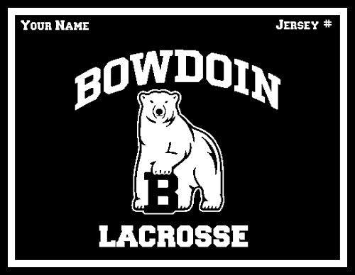 Bowdoin Lacrosse Name & Number