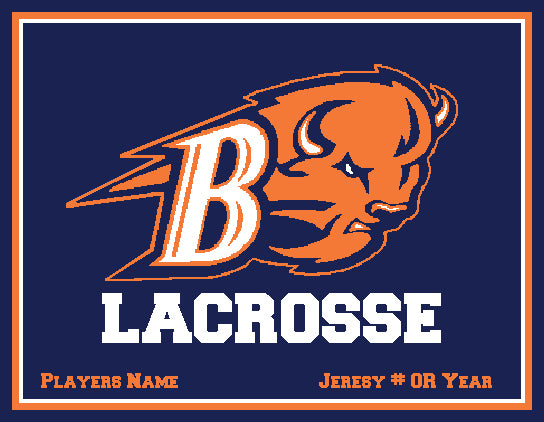 Custom Bucknell Men's Lax Navy Name & Number Or Year 60 x 50