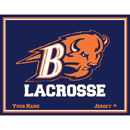 Bucknell Women's Lax Navy Name & Number