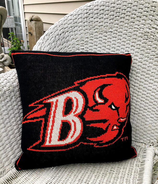 Bucknell BISON Lacrosse Pillow 20 x 20