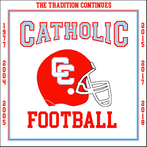 Charlotte Catholic FOOTBALL Tradition Commemorative Blanket 50 x 60