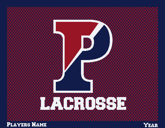 PENN Women's Chevron Lacrosse Customized with Name & Year 60 x 50