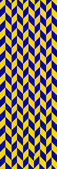 Michigan Colors Chevron Scarf 9 x 60