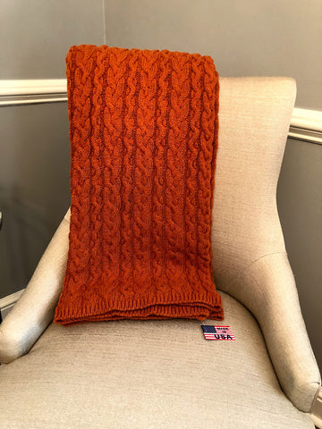 Chunky Cable Blanket Brassa - Recycled  Cotton