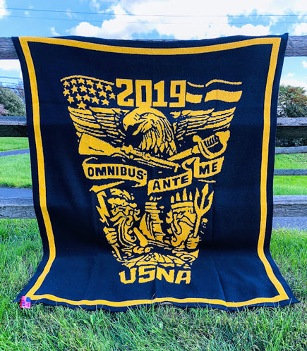 US Naval Academy Class of 2019 Seal Blanket
