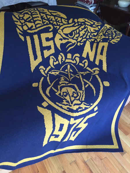 US Naval Academy Class of 1975 Seal Blanket