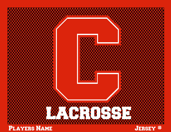 Custom Cornell Chevron Men's Lax Name & Number 60 x 50