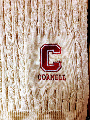NEW Cornell Natural Cable Blanket