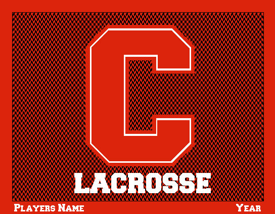 Custom Cornell Chevron Men's Lax Name & Year 60 x 50
