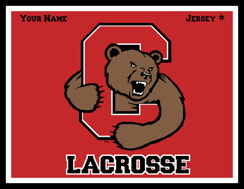 Custom Cornell Solid Men's Lax Name & Number 60 x 50
