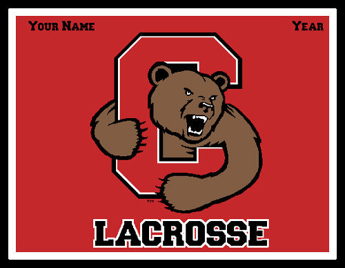 Custom Cornell Solid Men's Lax Name & Year 60 x 50