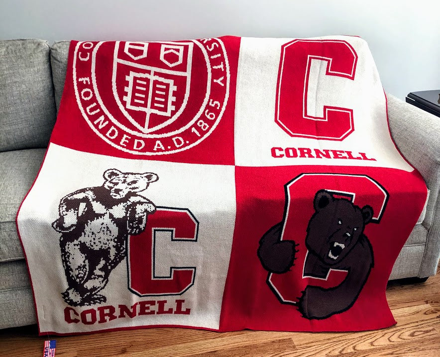 NEW Cornell Multi Logo Dorm, Office, Alumni, Tailgate Blanket