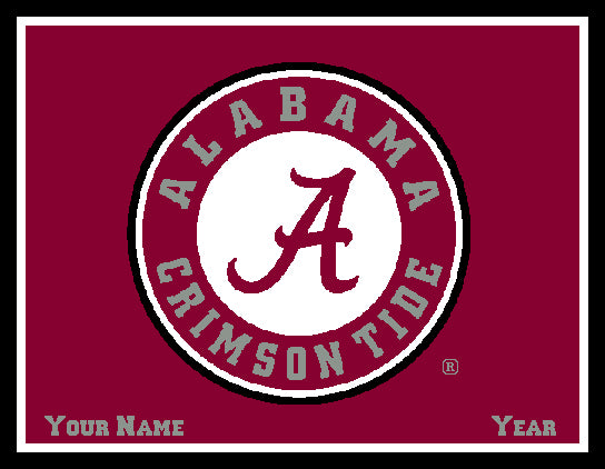 Alabama CUSTOMIZED Seal Blanket Crimson 60 x 50