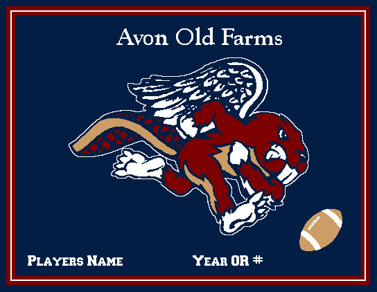 Custom Avon Old Farms FOOTBALL Name & Number OR Year  60 x 50