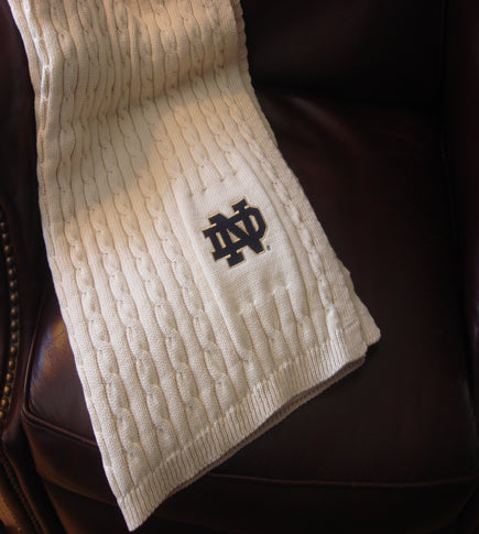 ND Natural Cable Blanket 50 x 60