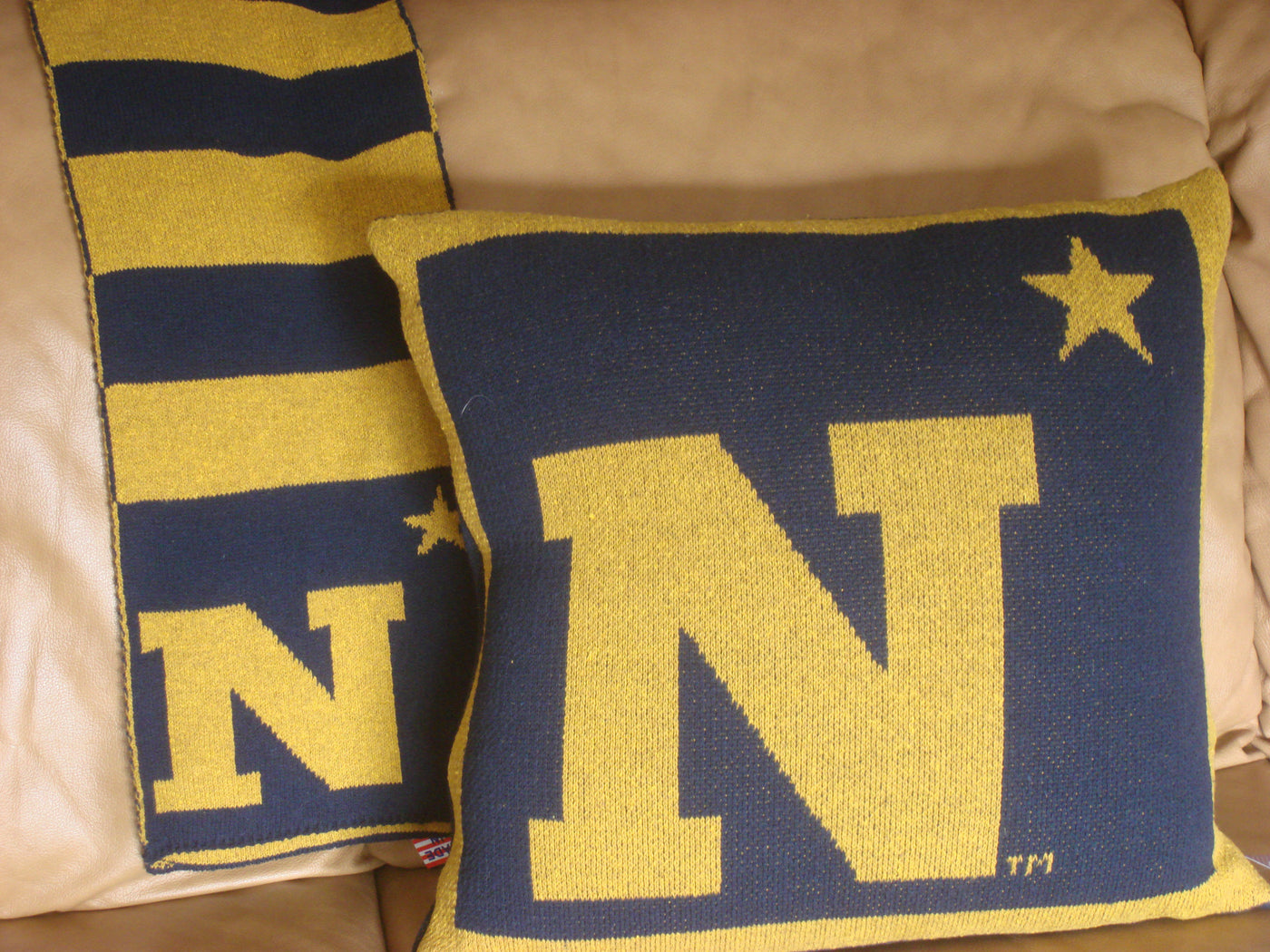 US Naval Academy N Star Pillow