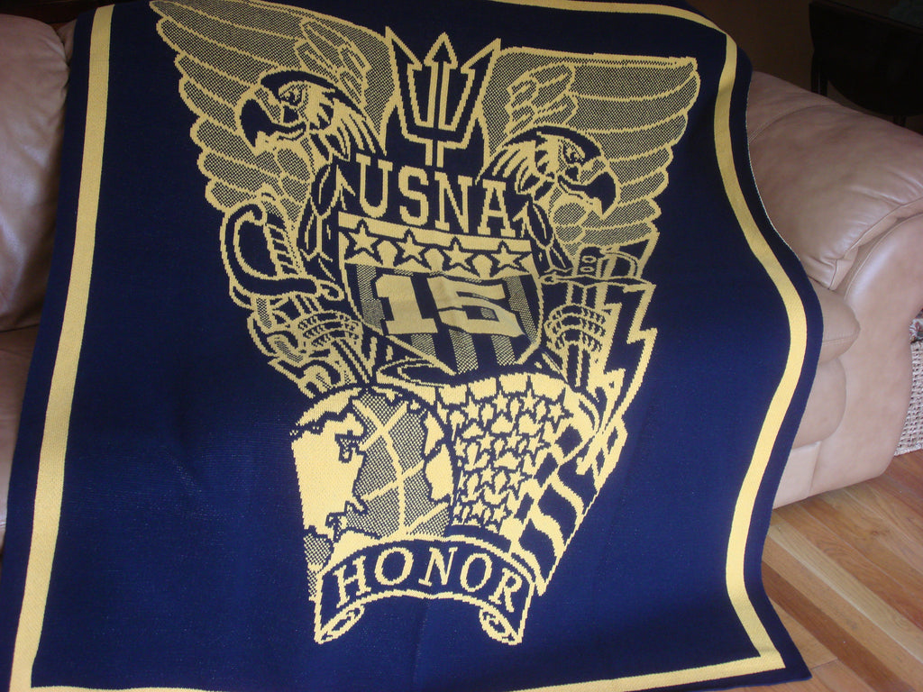 US Naval Academy Class of 2015 Seal Blanket