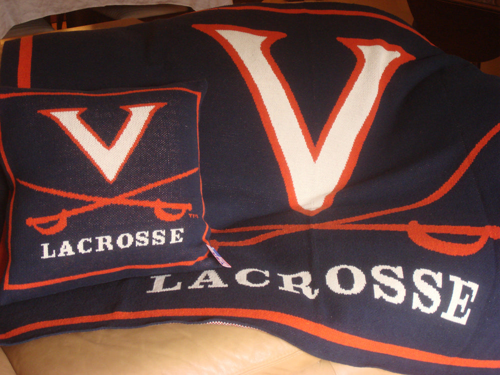 University of Virginia Lacrosse Pillow