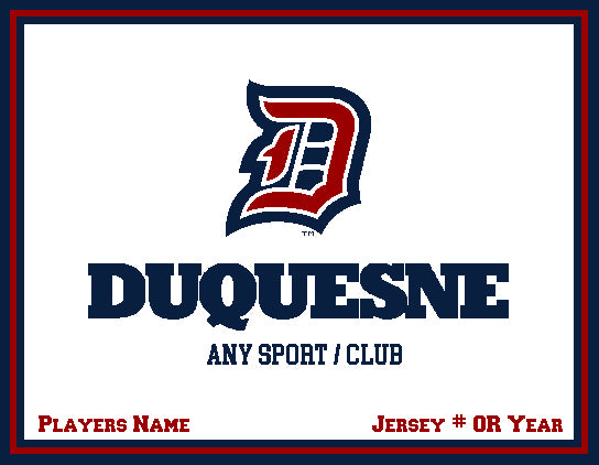 Custom Duquesne Any Sport  / Club  Natural  60 x 50