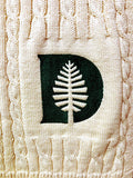 NEW Dartmouth D- Pine Natural  Cable Blanket