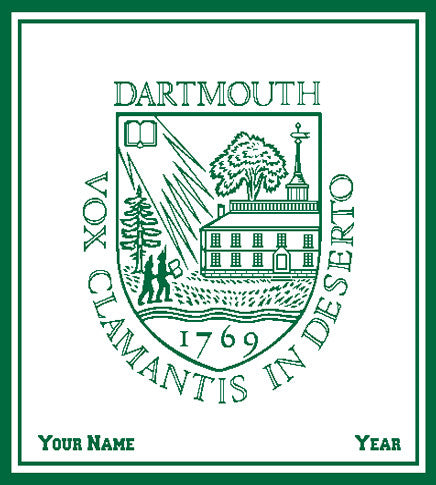 Dartmouth CUSTOMIZED Seal Blanket Natural 50 x 60