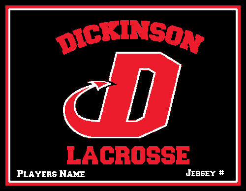 Dickinson Solid Lacrosse Customized Name & Number 60 x 50