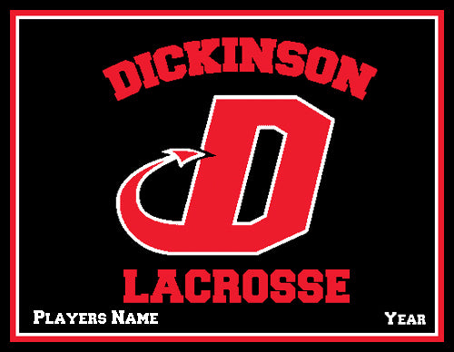 Dickinson Solid Lacrosse Customized  Name & Year 60 x 50