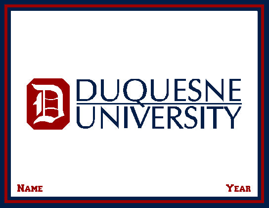 Custom Duquesne University  Natural  Name and Year 60 x 50