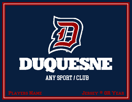 Custom Duquesne Any Sport  / Club  Navy  60 x 50
