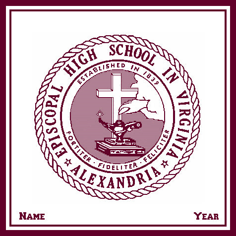 Episcopal HS Natural Base Seal Customized with Name and Year