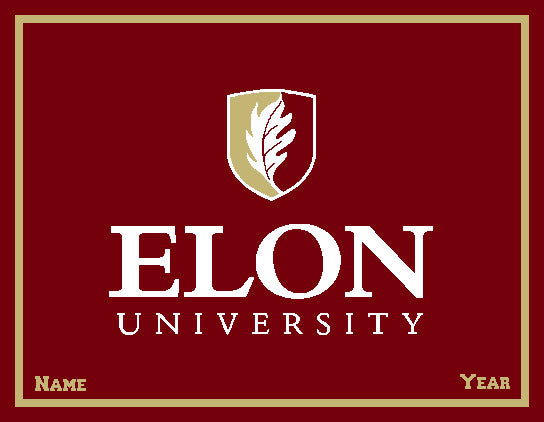 Custom ELON  Signature Logo Dorm, Home, Office, Alumni, Tailgate blanket