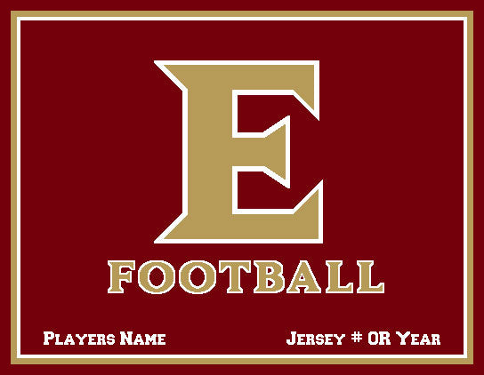 Custom ELON Football Name and # Or Year  60 x 50