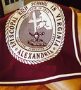 Episcopal HS Burgundy Base Seal Customized with Name and Year