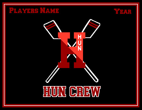 Hun School Rowing Blanket Customized Name & Year 60 x 50
