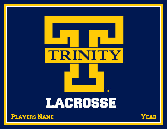 Custom Trinity Lacrosse Name and Year   60 x 50