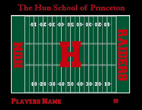 The Hun School Football Blanket Customized with your Name & Number 60 x 50